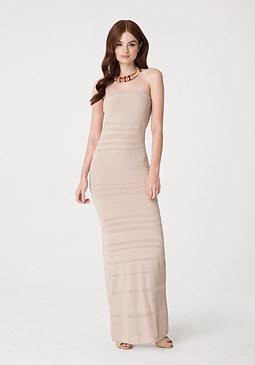 bebe Petite Strapless Maxi Dress