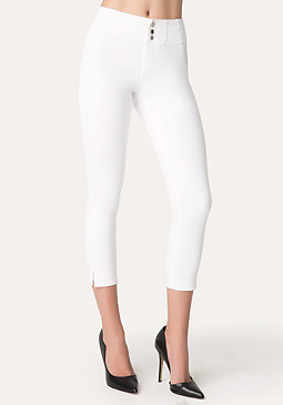 Corset Waist Crop Jeans at bebe