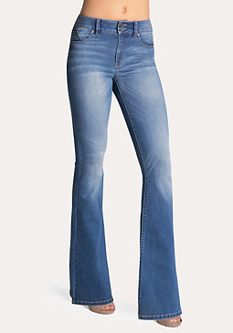 bebe 2-Button Flared Jeans