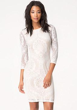 bebe Lace Midi Dress