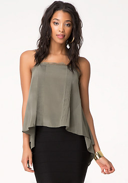 bebe Silk Flutter Top
