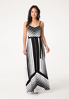 bebe Petite Striped Maxi Dress