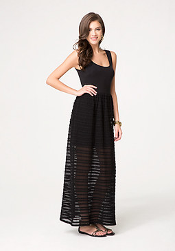 Petite Knit Maxi Dress at bebe