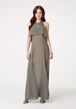 bebe Petite Slit Maxi Dress