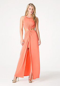 bebe Petite Twist Maxi Dress