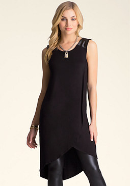 bebe Hi-Lo Sleeveless Tunic