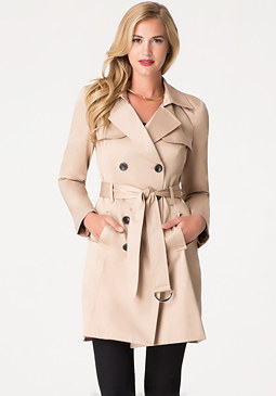 bebe Basic Trench Coat