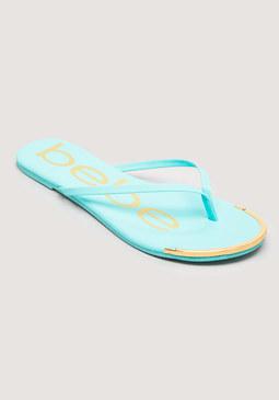 bebe Ilana Logo Flip Flops