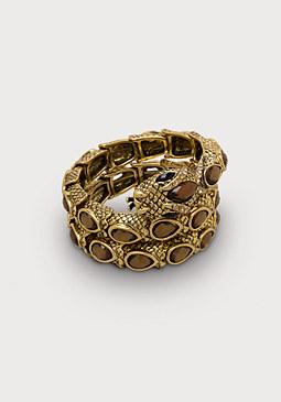 bebe Snake & Crystal Bracelet