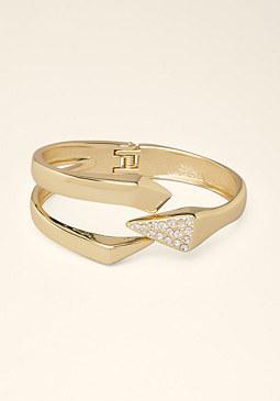 bebe Metal Claw Hinge Bracelet