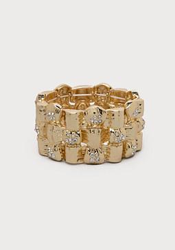 bebe Bamboo Look Metal Bracelet
