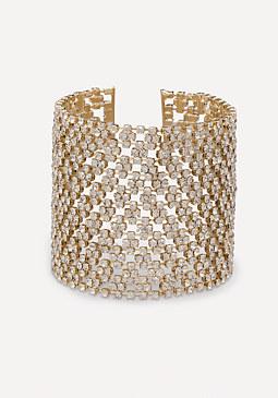 bebe Crystal Clasp Bracelet