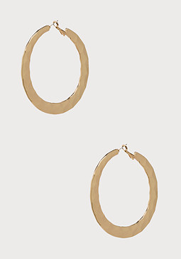 bebe Hammered Hoop Earrings