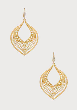 bebe Tribal Teardrop Earrings