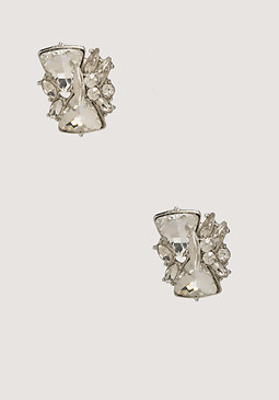 bebe Geo Crystal Stud Earrings