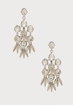 bebe Crystal & Spike Earrings