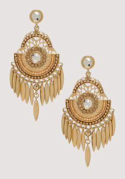 bebe Tribal Chandelier Earrings