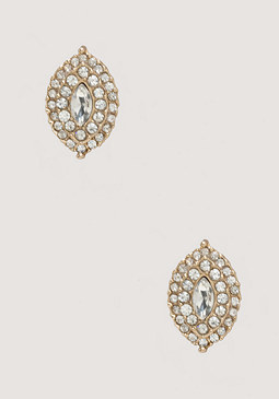 bebe Marquise Crystal Earrings