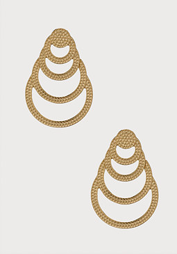 bebe Stacked Hoop Earrings