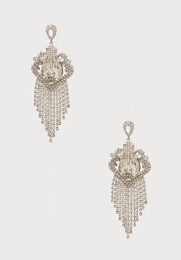 bebe Crystal Fringe Earrings