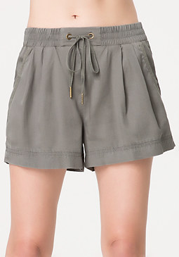 bebe Safari Drawstring Shorts