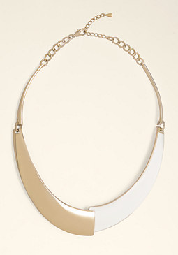 bebe Enamel Collar Necklace