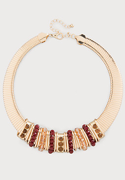 bebe Beaded Collar Necklace