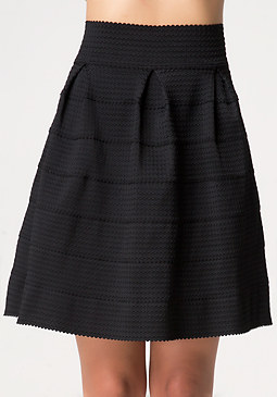 bebe Roxanne Textured Skirt