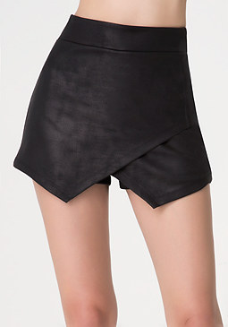 bebe Coated Triangle Hem Skort