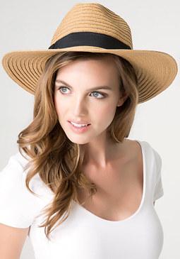 bebe Straw Panama Hat