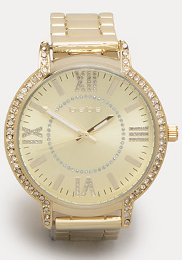 bebe Rhinestone Watch