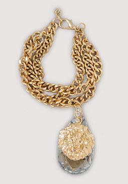 bebe Lion & Crystal Bracelet