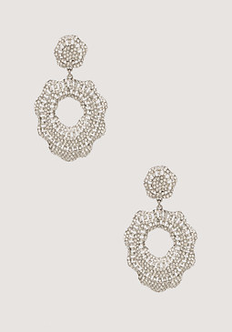bebe Wavy Circle Earrings
