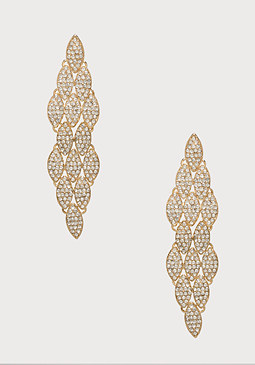 bebe Tiered Leaf Earrings