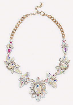 bebe Mix Cut Crystal Necklace