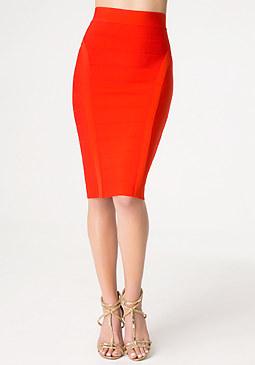 bebe Petite Bandage Midi Skirt