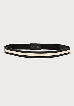 bebe Metal Bar Stretch Belt