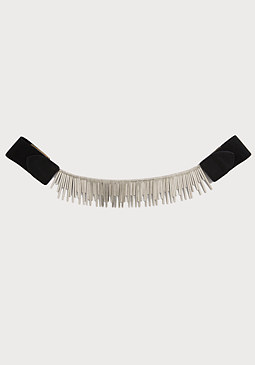 bebe Metal Fringed Stretch Belt