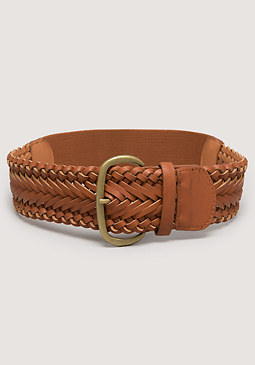 bebe Braided Buckle Stretch Belt