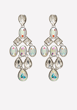 Crystal Chandelier Earrings at bebe