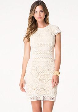 bebe Tayler Crochet Dress
