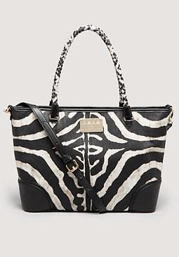 bebe Vienna Zebra Tote