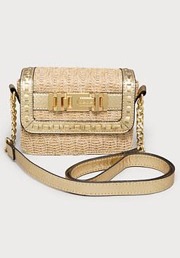 bebe Jenny Buckle Crossbody Bag