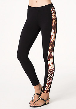 bebe Logo Aztec Animal Leggings