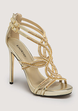 bebe Tamia Jewel Strappy Sandals
