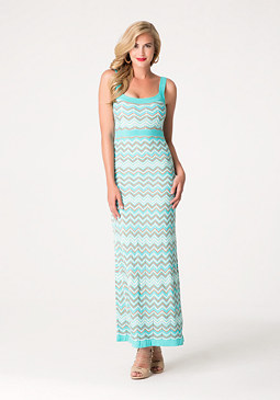 bebe Zigzag Maxi Dress