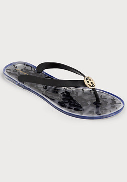 bebe Viola Flat Jelly Flip Flops