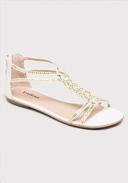 bebe Gretchen Braided Sandals