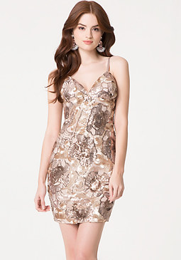 bebe Rose Sequin Mini Dress