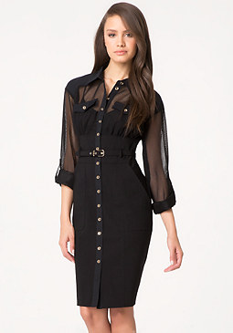 bebe Juliette Belted Shirtdress